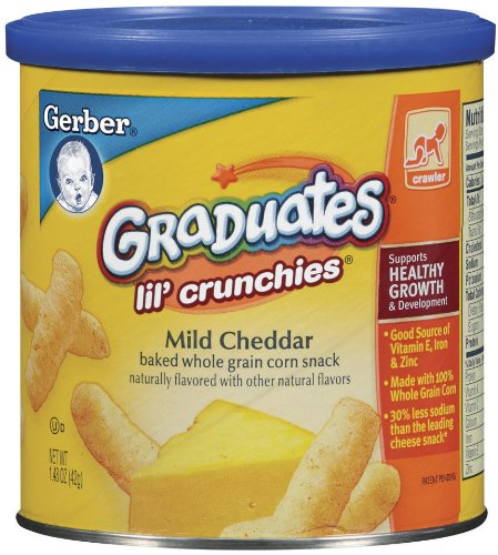 How to get Gerber Graduates Lil' Crunchies, Mild Cheddar, 1.48-Ounce Canisters (Pack of 6) Guides