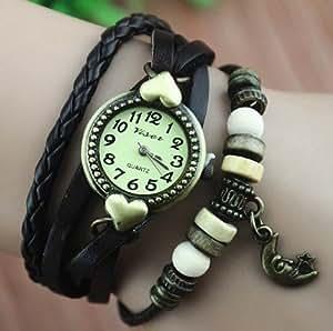 R.N. Fashion Lady Weave Leather wrap around Bracelet Watch,S51