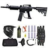 Spyder MRX Magazine Fed Paintball Marker Gun 3Skull Sniper Set