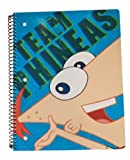 Disney Phineas & Ferb 1 Subject Wide Ruled Notebook