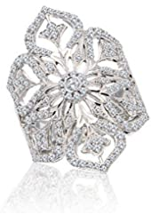 Diamond fashion ring white gold 14k 1 carats