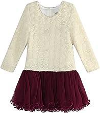 Richie House Little Girls39 Fashion Dress With Mesh Flared Bottom RH1283