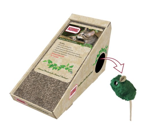 KONG Naturals Incline Scratcher with Toy Cat Toy