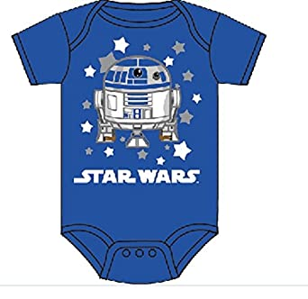 Star Wars R2d2 Stars Costume Infant Baby Romper Snapsuit