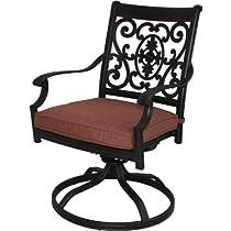 Hot Sale Darlee St. Cruz Cast Aluminum Patio Swivel Rocker Dining Chair - Antique Bronze