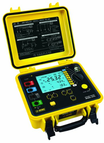 Aemc 6472 Multi-Function Digital Ground Resistance Tester, 99.99 Kilohms Resistance, 32V Voltage, 250 Ma Current