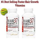 Best Hair Growth Vitamins Hair Formula 37 Hair Vitamins for Faster Growing Hair Vegetarian Capsules 2 month supply