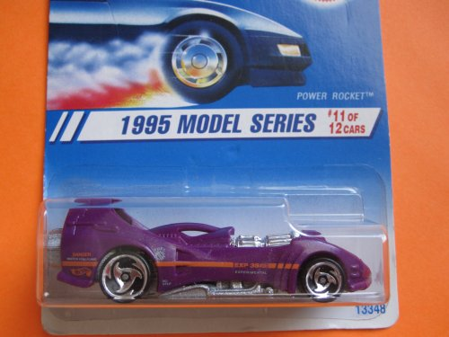 Power Rocket 1995 Hot Wheels Model Series #11 Saw Blade Wheels painted base