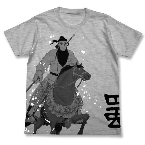 三国志 関羽と関兎馬Tシャツ Hグレー サイズ:M