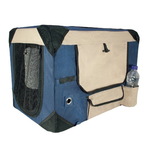 Dogit Deluxe Soft Crate With Bag For Pets, Xx-Large, Blue