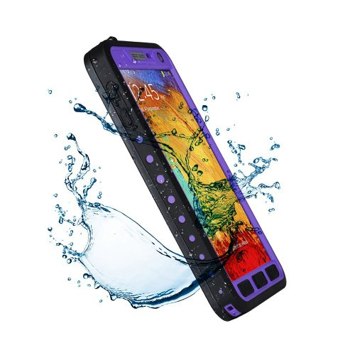 Nancy'S Shop Samsung Galaxy Note 3 Iii Cases Cover Waterproof Case Shockproof Snowproof Dirtproof Rugged Hard Armor Proctive Cover For Samsung Galaxy Note 3 (Purple)