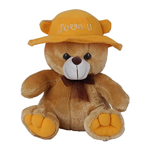 Ultra-Cap-Teddy-with-Love-You-9-inches-Stuffed-Soft-Toys-Gifts-Brown
