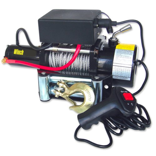 12V 9,500 Lb Electric Winch Monster Torq Auto / Industrial