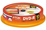 TDK データ用DVD-R 4.7GB 1-16倍速対応 パールカラーディスク(タイトルライン付き) 10枚スピンドル DR47ALC10PUE