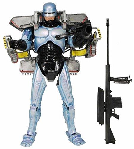 """NuoYa001 NECA 42075 Robocop 7"""" Ultra Deluxe Action Figure Jetpack&Cobra Assault Cannon"""