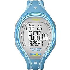 Buy Timex Ironman 250 Lap Tap Sleek Screen Watch (Aqua Blue) ~ T 5K590 SU by Timex