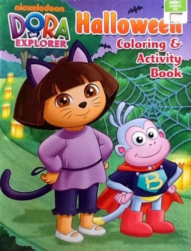 Dora the Explorer Halloween Coloring & Activity Book: 32 Pages!!! - 1