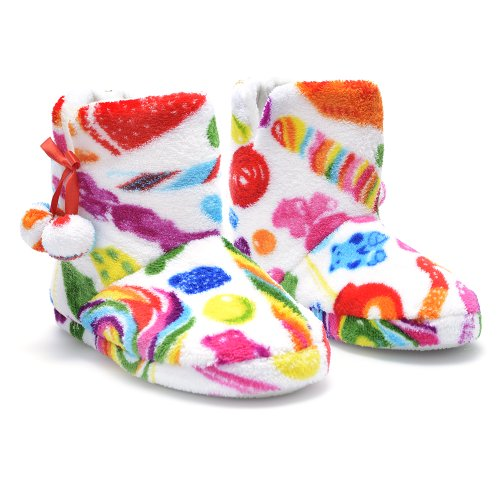 Dylan's Candy Bar Fuzzy Candy Spill Slippers