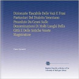 Amazon.com: Dizionario Tascabile Delle Voci E Frasi Particolari Del