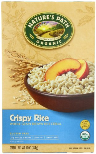 Nature's Path Organic whole grain brown Crispy rice Gluten free, 10-Ounce Boxes (Pack of 6) (Rice Crispy Gluten Free compare prices)