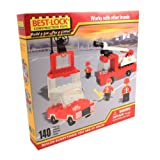 Construction Fire Truck, Car And Station - 140 Pieces