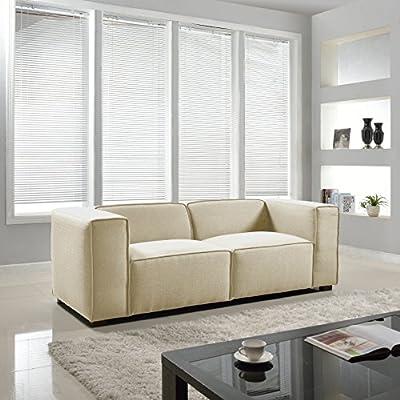 Modern Contemporary Designed Wide Track Arm Sofa