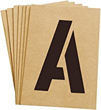 Hy-ko ST-5 5 in Reusable Carded Number Letter Stencil - Pack of 6