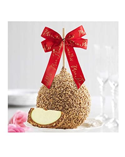 Mrs. Prindable's Toffee Walnut Jumbo Apple with Red Ribbon