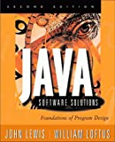 Java Software Solutions: Foundations of Program Design (0201612712) by John Lewis