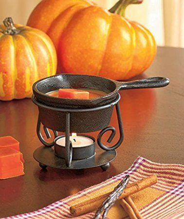 Cast Iron Skillet Wax Tart Warmer-use Tea Light Candles (Cast Iron Tart Warmer compare prices)