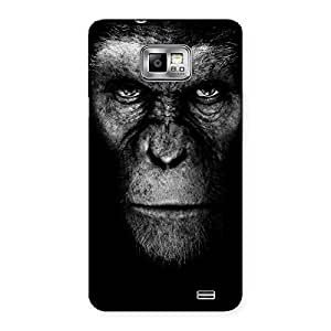 Stylish Chimp King Black Back Case Cover for Galaxy S2