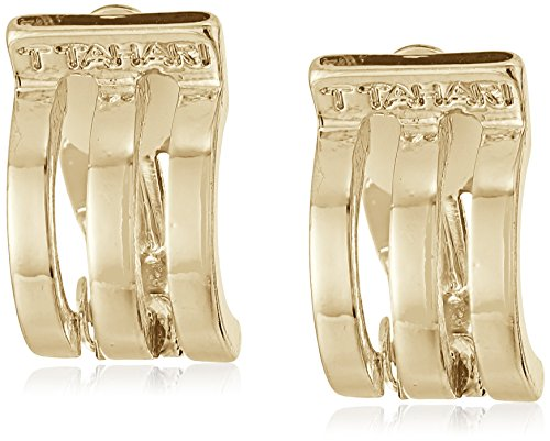 t-tahari-gold-3-band-mini-hoop-clip-on-earrings
