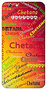Chetana (Consciousness) Name & Sign Printed All over customize & Personalized!! Protective back cover for your Smart Phone : Moto X-Play