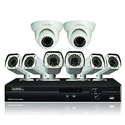 Q-See QC908-8U7-2 8 Channel AnalogHD DVR 2TB Hard Drive and 8 HD 720p AnalogHD Cameras (White)