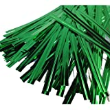 "100 Green 4"" (100mm) Metallic Twist Ties / Bag Sealers Coloured Plastic with Wire"