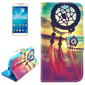 Chinese Knot Pattern Leather Case with Card Slots & Holder for Samsung Galaxy S4 / i9500