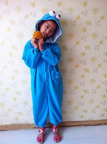 Cookie Monster Pajamas Sleepsuit Sleepwear Pyjamas Unisex Cosplay Costume (Size Xs) front-833172