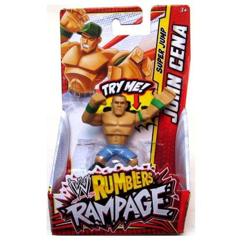 JOHN CENA (GREEN - JUMP) - WWE RUMBLERS RAMPAGE MATTEL TOY WRESTLING ACTION FIGURE