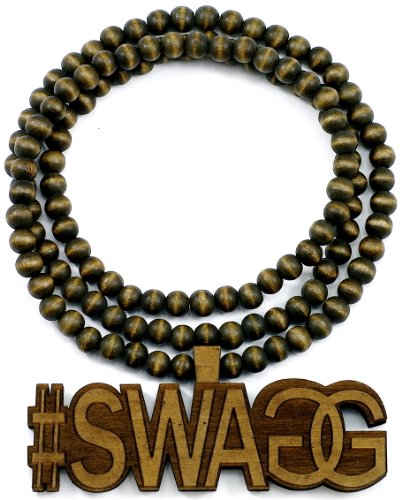 #Swagg 2 Good Wood Goodwood Brown All Natural Style Pendant Replica Necklace Chain Piece front-222609