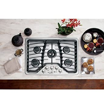 "GE PGP959SETSS Profile 30"" Stainless Steel Gas Sealed Burner Cooktop"