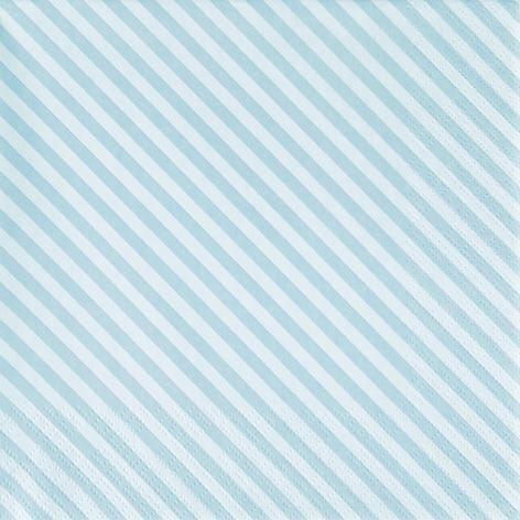 Servietten Streifen Stripes Türkis 25 x 25 cm Cocktail Servietten Napkins Tissues 20 Stück 3-lagig