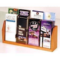 Wooden Mallet 8-Pocket Countertop Brochure Display, Medium Oak