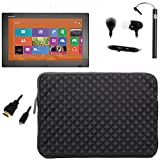 BIRUGEAR Splash & Shock Resistant Sleeve Case w/ HDMI Cable, Screen Protector for Sony Vaio Tap 11 - 11.6 inch Windows 8 Tablet PC