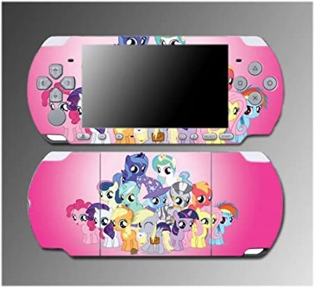 My Little Pony Friendship is Magic Cutie Mark MLP Video Game Vinyl Decal Sticker Cover Skin Protector 2 Sony PSP Slim 3000 3001 3002 3003 3004 Playstation Portable