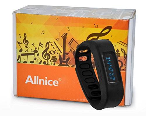 Allnice® Latest Wearable Devices Sh01-2.1Erd Bluetooth 2.1 Smart Healthy Silicone Wristband Sports Oled Bracelet Bluetooth Watch Clock Pedometer Stopwatch Calories Monitoring Sleep Tracking Fitness Track For Android 2.2 To 4.2 Smart Phones As Samsung Sams