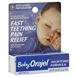 Baby Orajel Fast Teething Pain Relief, Nighttime Formula, Gel