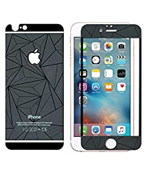 Relax And Shop 3D Diamond Mirror Front + Back Tempered Glass Screen Protector For Iphone 5 - Black