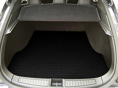 ToughPRO Tesla Model S Trunk Mat - All Weather Heavy Duty - Black Rubber - (2012-2016) (Tesla Model S Floor Mat compare prices)