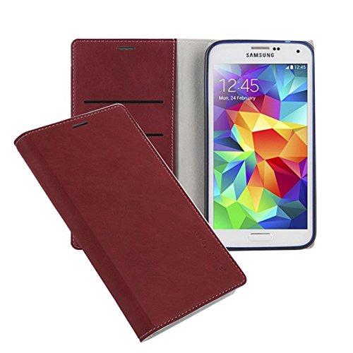 Galaxy S4 ケース Arium Boston Flip Case ギャラクシー S4 手帳型 ビュー フリップ ケース レッド(Red) / SC-04E 携帯 スマホ スマートフォン モバイル ケース カバー ダイアリー 手帳 ケース カード 収納 ポケット スロット