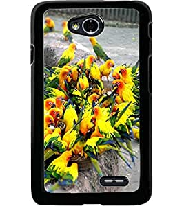 ColourCraft Beautiful Birds Design Back Case Cover for LG L70